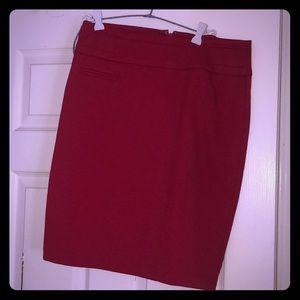 Forever21 red cherry pencil skirt